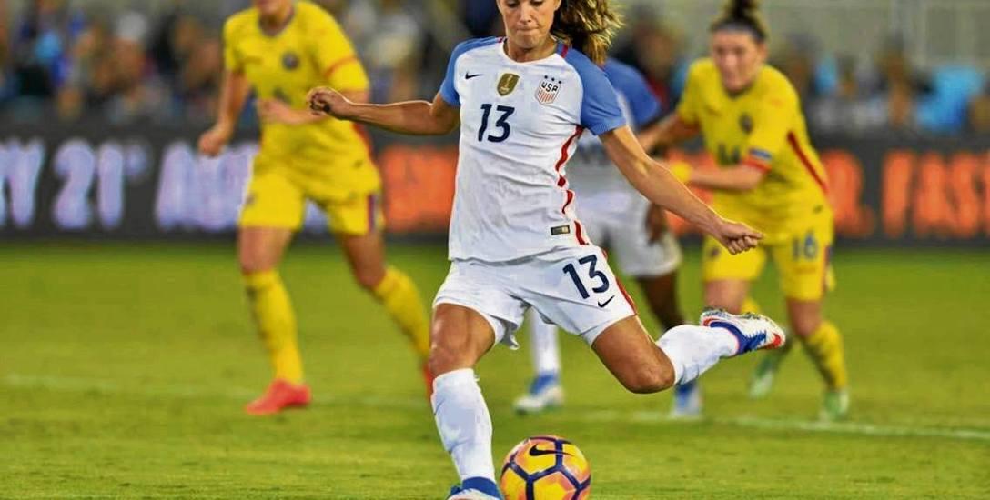 Alex Morgan jest czołową zawodniczką kadry USA. Ostatnio przeszła z Orlando Pride do Olympique Lyon
