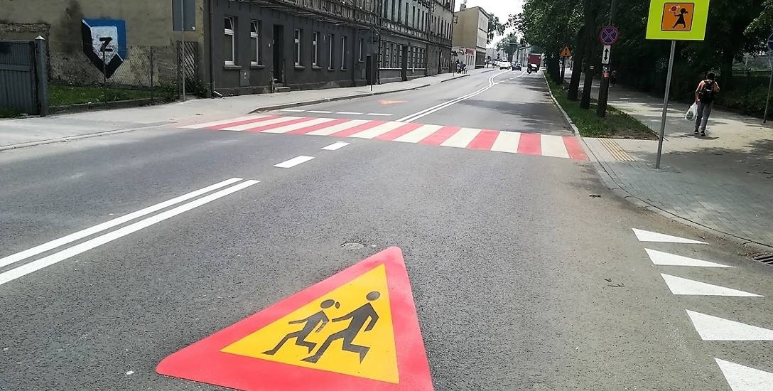 Nowe oznakowanie u zbiegu ulic Najświętszej Marii Panny ze Szkolną