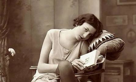 kobieta, piękno, stara fotografia