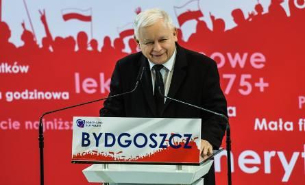 Jarosław Kaczyński był gościem konwencji PiS w Bydgoszczy.