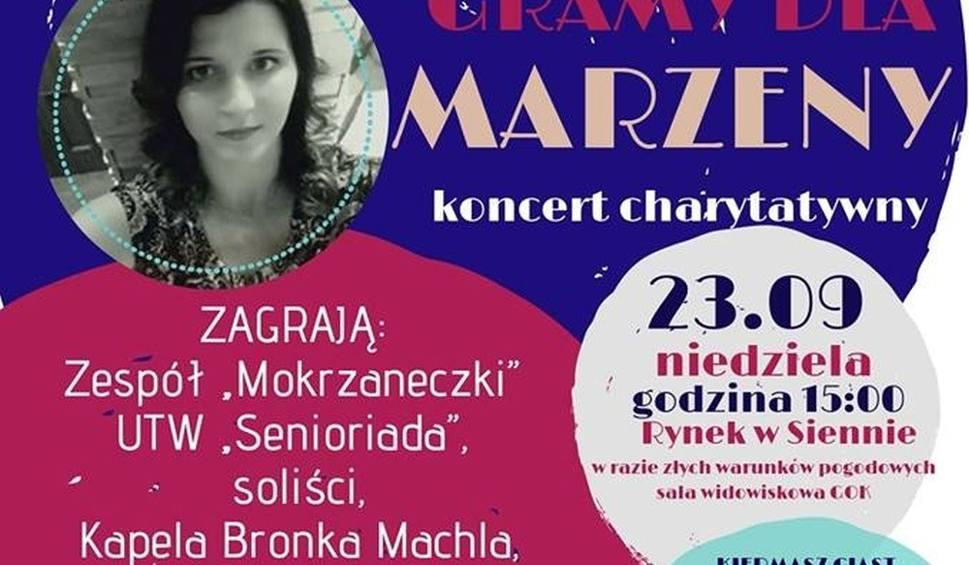 Film do artykułu: Gramy dla Marzeny - koncert charytatywny w Siennie już w niedzielę, 23 września. Będą kapele ludowe oraz zespoły Alibi, Silvers i Champions