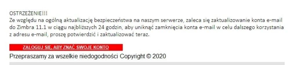 fałszywy e-mail