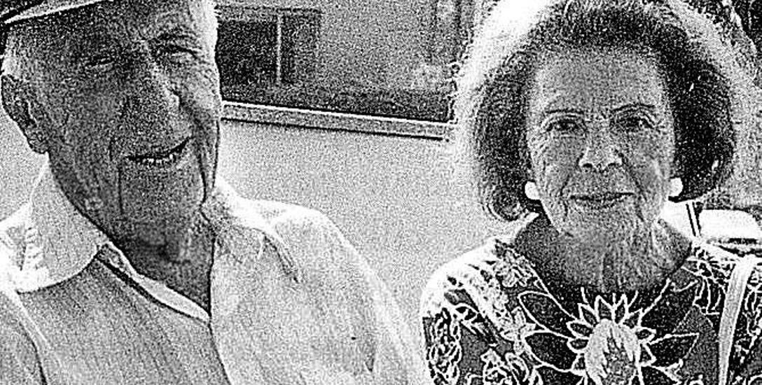 Nora Ney z Leonem Friedlandem w latach 90. XX wieku. Z czwartm mężem przeżyła niemal 25 lat.