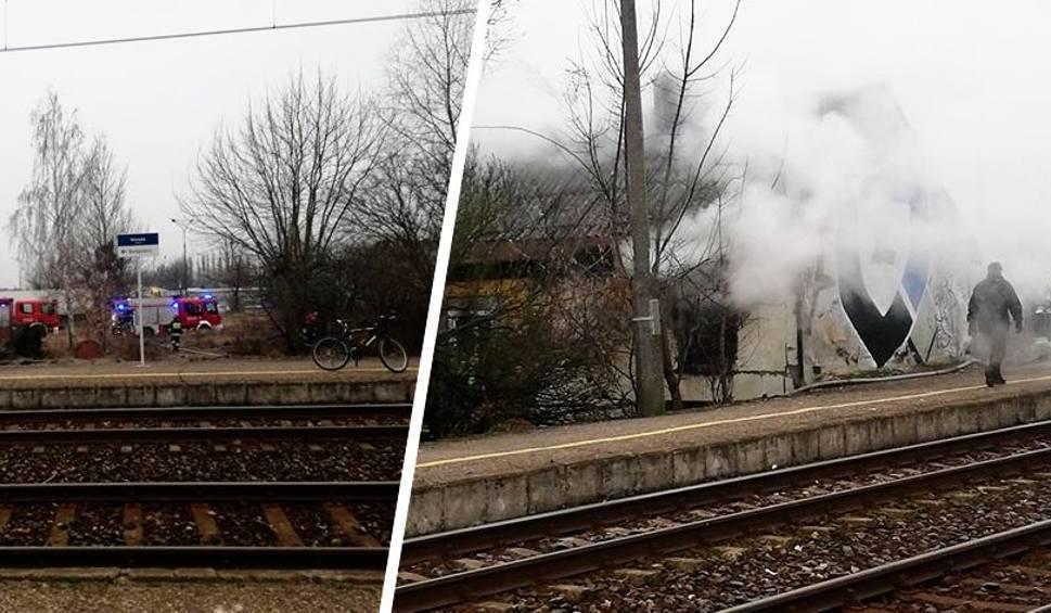 Film do artykułu: Pożar budynku przy stacji PKP Bydgoszcz-Osowa Góra [zdjęcia]