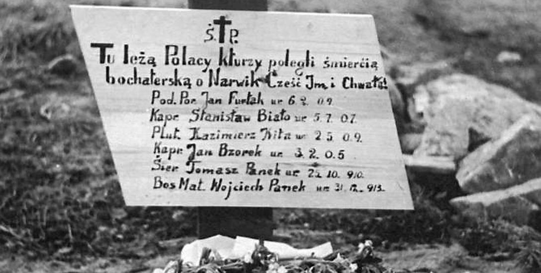 Grób polskich żołnierzy poległych pod Narwikiem