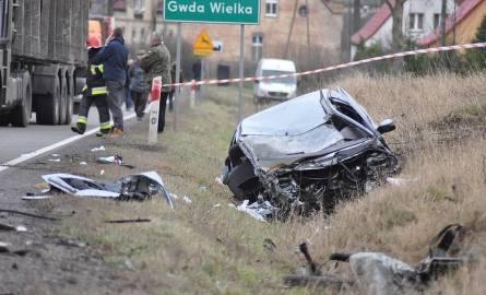 Miejsce tragedii tuż po wypadku
