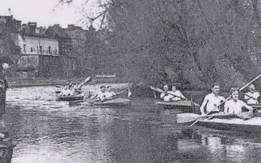 Spływ Słupią w końcu lat trzydziestych
