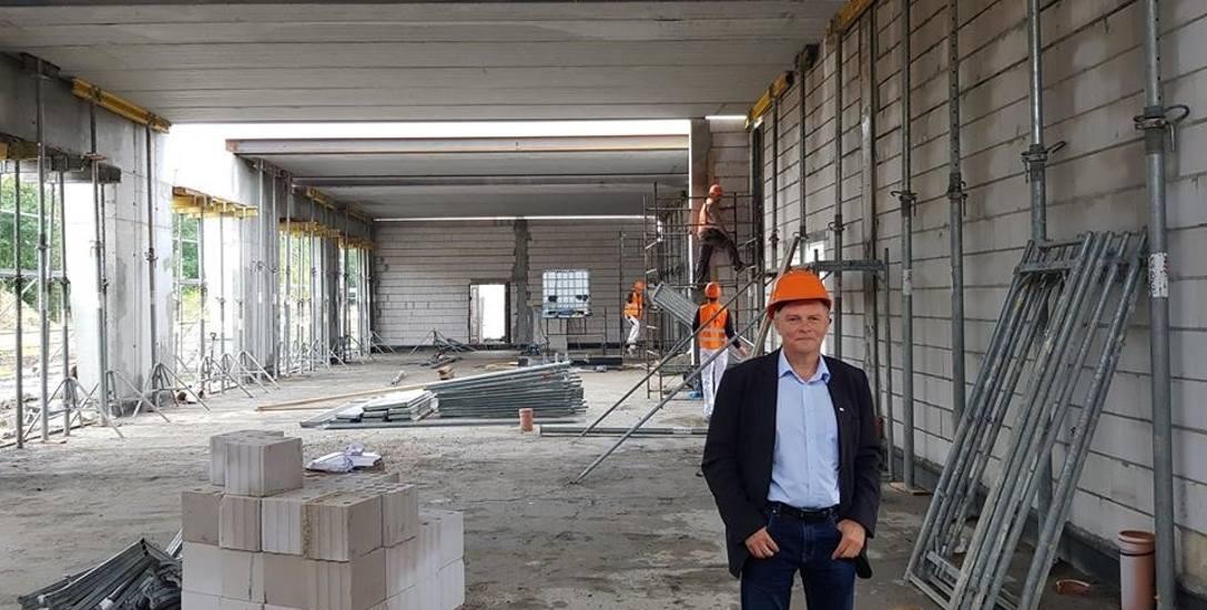 Maciej Pietruszak: - Remizę OSP w Drezdenku budujemy drożej, niż zakładaliśmy
