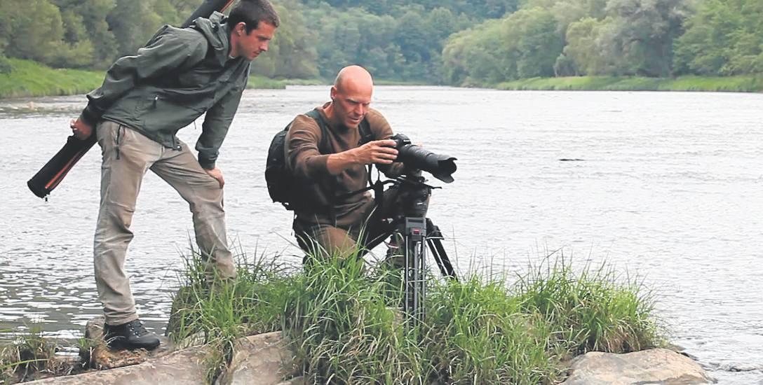 Eric Balaż i jego współpracownik Jozef Fiala podczas pracy w polskich Bieszczadach.
