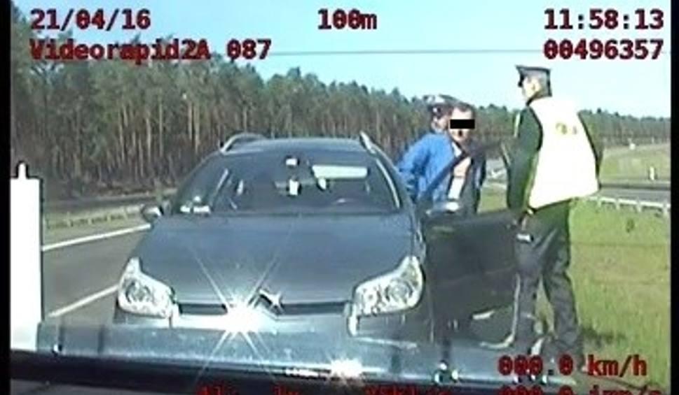 Film do artykułu: Poszukiwany w Europie zatrzymany na drodze S3 [WIDEO]