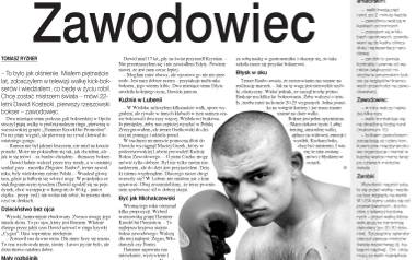 Jeden z pierwszych tekstów w Nowinach o Cyganie - z 12 września 2003 roku