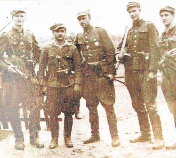 Kadra 5 Wileńskiej Brygady Armii Krajowej, która działała w Borach Tucholskich