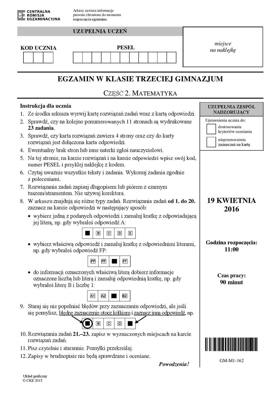 matura 2019 matematyka pdf