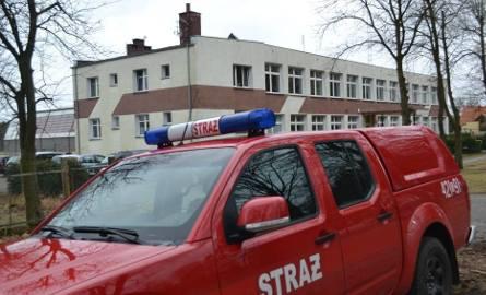 Pożar w budynku szkoły w Polnicy