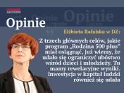 Elżbieta Rafalska: Udało się ograniczyć ubóstwo wśród dzieci i młodzieży