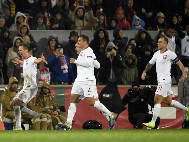 Portugalia - Polska 1:1. Radość Arkadiusza Milika po golu z rzutu karnego