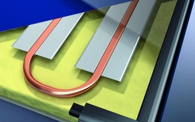 W kolektorach promieniowanie słoneczne pada na absorber, który umieszczony jest za szybą. Zadaniem absorbera jest przejęcie jak największej ilości energii.