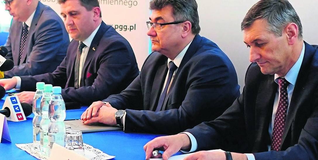 PGG podsumowała 2018 rok w poniedziałek. Na spotkaniu był wiceminister energii Grzegorz Tobiszowski