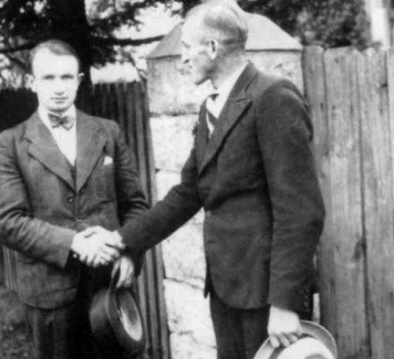 Ignacy Dinant (z prawej) - ofiara zbrodni komunistycznej. Na zdjęciu z najmłodszym bratem Alojzem