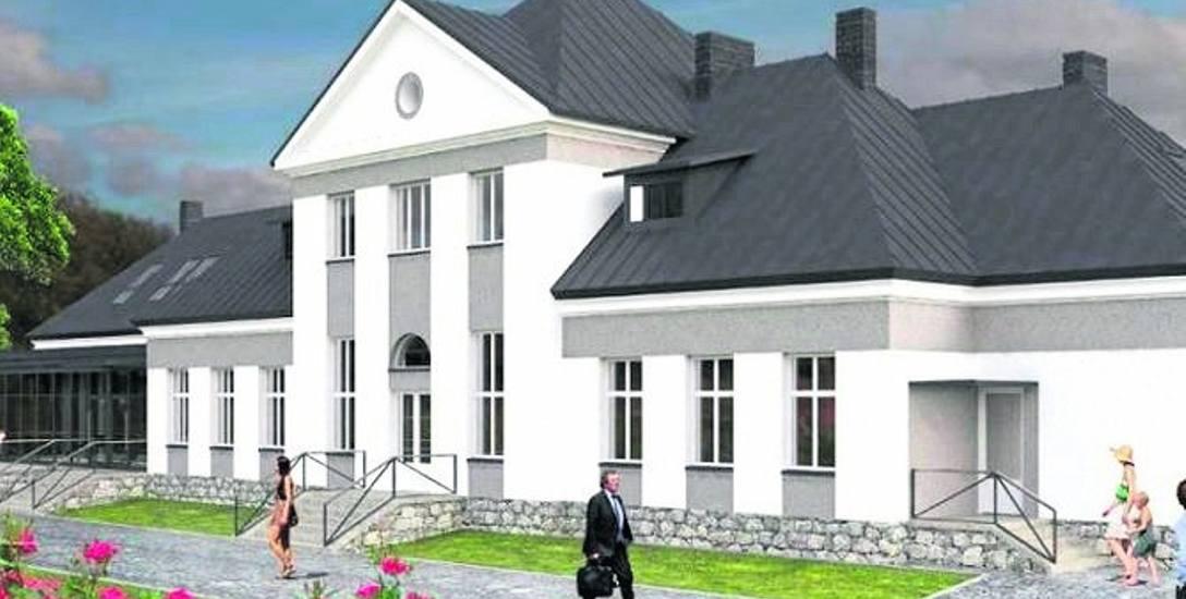 Tak ma wyglądać dworzec w Wiśle po remoncie. Być może w budynku powstanie browar, który ma promować miasto.