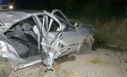 Wypadek na drodze Topczewo - Zalesie (zdjęcia)