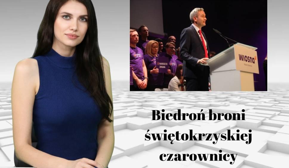 Film do artykułu: WIADOMOŚCI ECHA DNIA. Robert Biedroń broni świętokrzyskiej czarownicy