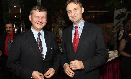 Grzegorz Maciągowski, dyrektor Zakładu Marketingu Kolportera Holding uciął sobie pogawędkę z dyrektorem Departamentu Promocji, Edukacji, Kultury, Sportu