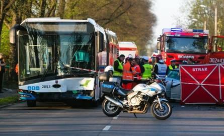 Śmiertelny wypadek na ulicy Metalowej w Szczecinie - Podjuchach. 18.04.2019 r.