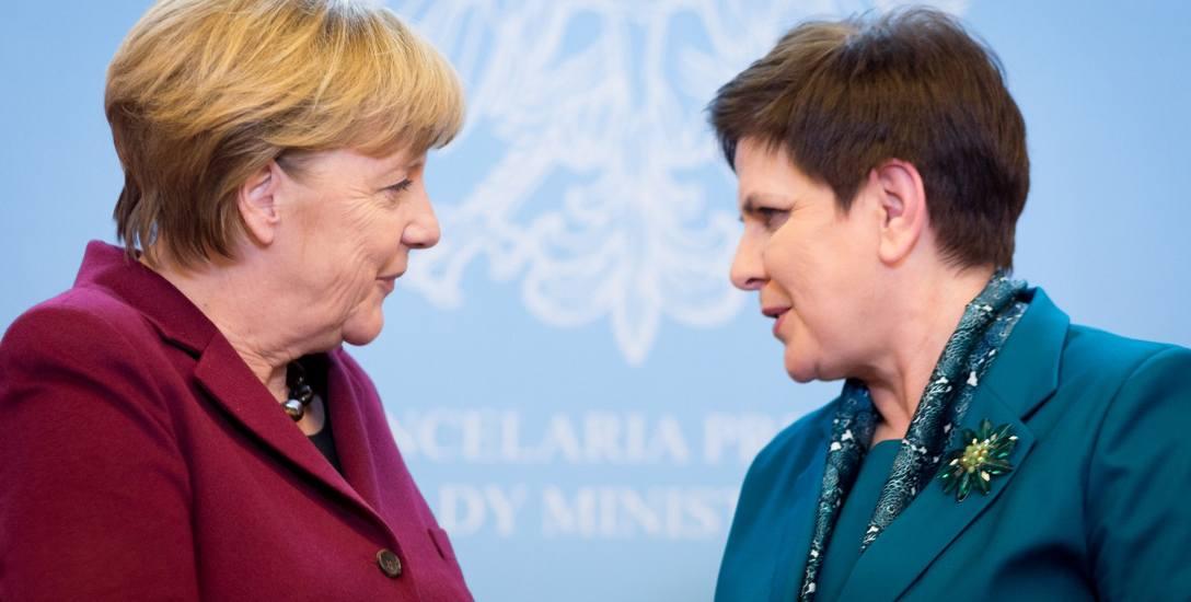 Kanclerz Niemiec Angela Merkel podczas wizyty w Polsce 7 lutego spotkała się m.in. z premier Beatą Szydło