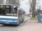 Autobus linii 501 jeszcze do niedawna jeździł przez Bieńczyce. Na zdjęciu kurs w kierunku ronda Hipokratesa,