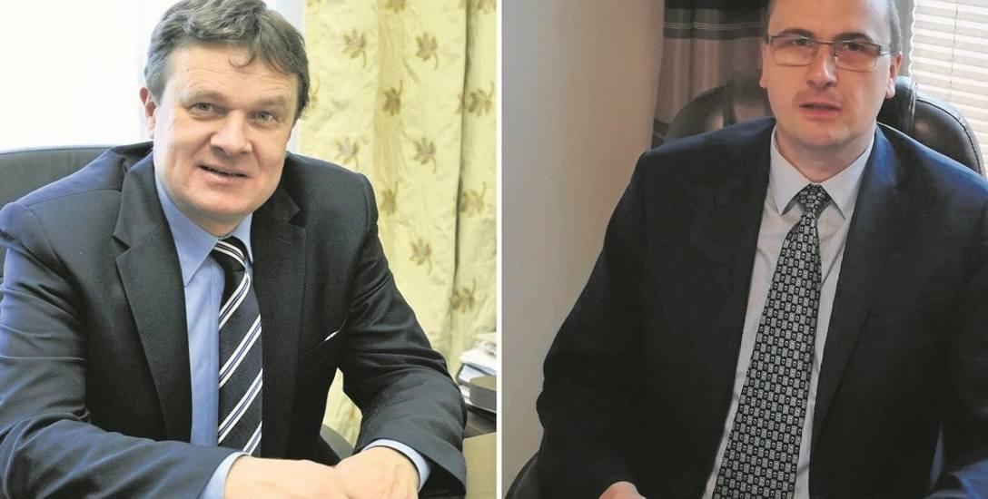 Dariusz Reśko (po lewej) będzie ubiegał się o trzecią kadencję burmistrza Krynicy. Dla Piotra Ryby (z prawej) będzie to trzeci start w wyborach. Pomóc