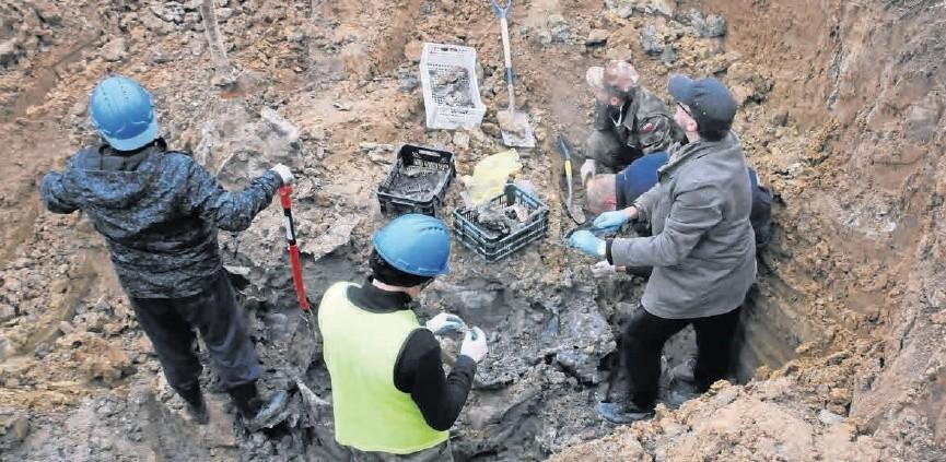 Ziemia wokół wraku była przesiąknięta paliwem i olejami z roztrzaskanej maszyny. Z wykopu, głębokiego na 5 metrów, wyjęto w sumie 2 tony części &