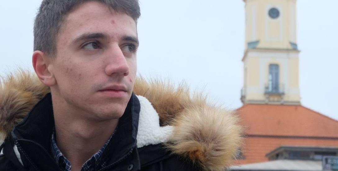 Damian Chorzewski ma 21 lat. W Białymstoku nie tylko studiuje, ale też może realizować swoje pasje