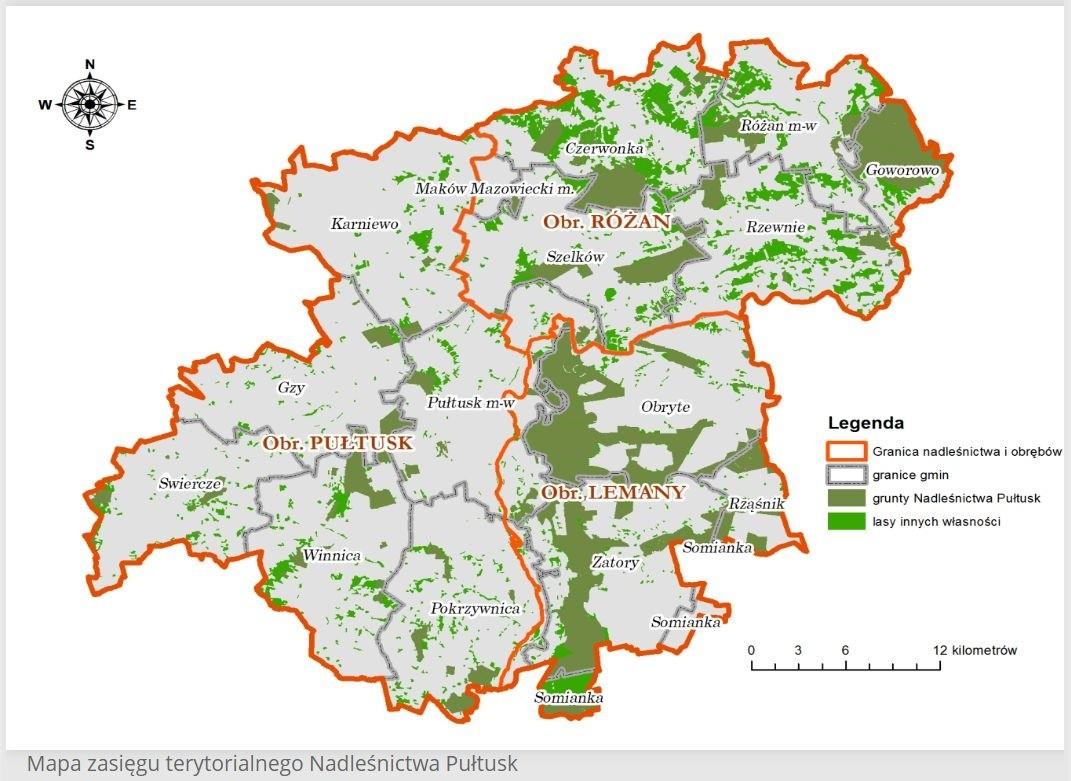 Zakaz wstępu do lasów Nadleśnictwa Pułtusk