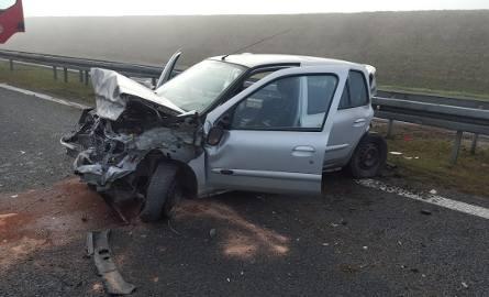 Wypadek na autostradzie A4 pod Wrocławiem