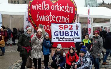 Gubińska grupa wybrała się z banerem do Warszawy na Finał WOŚP. Można było ją zobaczyć, oglądając relację ze stolicy.