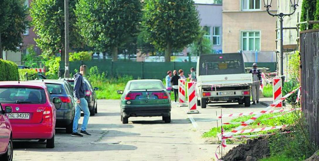 Fragment ulicy Basztowej, który zdaniem mieszkańców jest niebezpieczny dla pieszych