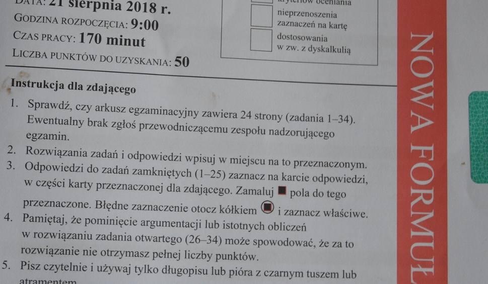 Film do artykułu: Matura poprawkowa 2018 MATEMATYKA. Arkusz i odpowiedzi w serwisie EDUKACJA. Mamy arkusze! Mamy wszystkie odpowiedzi