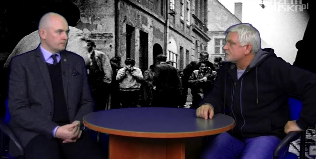 Rafał Reczek, dyrektor Instytutu Pamięci Narodowej w Poznaniu (po lewej), Dariusz Chajewski z Gazety Lubuskiej (po prawej)