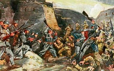 Austriacy i Rosjanie walczą w Przemyślu