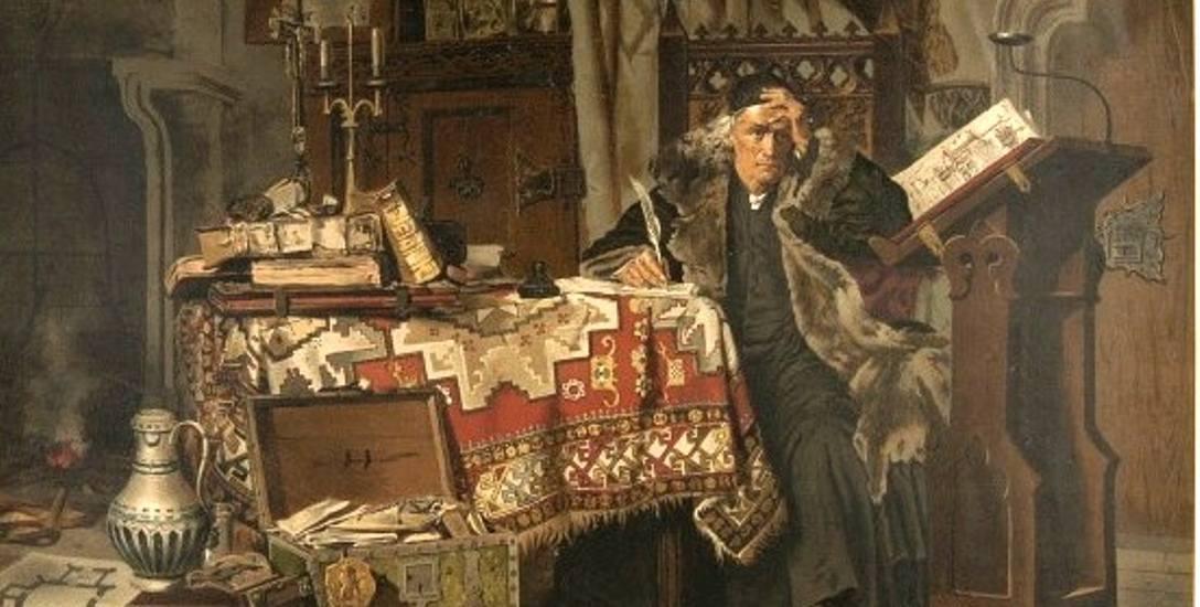 Jan Długosz na reprodukcja obrazu Antoniego Gramatyki