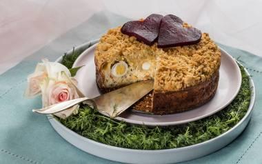 Walentynkowy sernik na słono z dodatkiem łososia [PRZEPIS]
