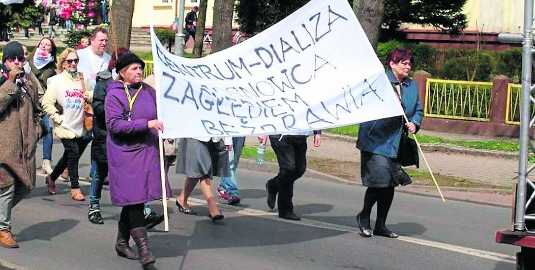 Związkowcy z białogardzkiego szpitala na początku roku protestowali czynnie, m.in. w obronie zwalnianych pracowników