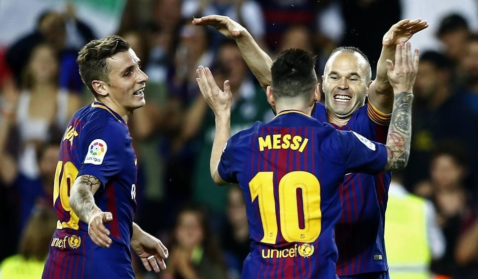 Film do artykułu: Wpadka sędziego pomogła Barcelonie. Messi i spółka pokonali czerwoną latarnię