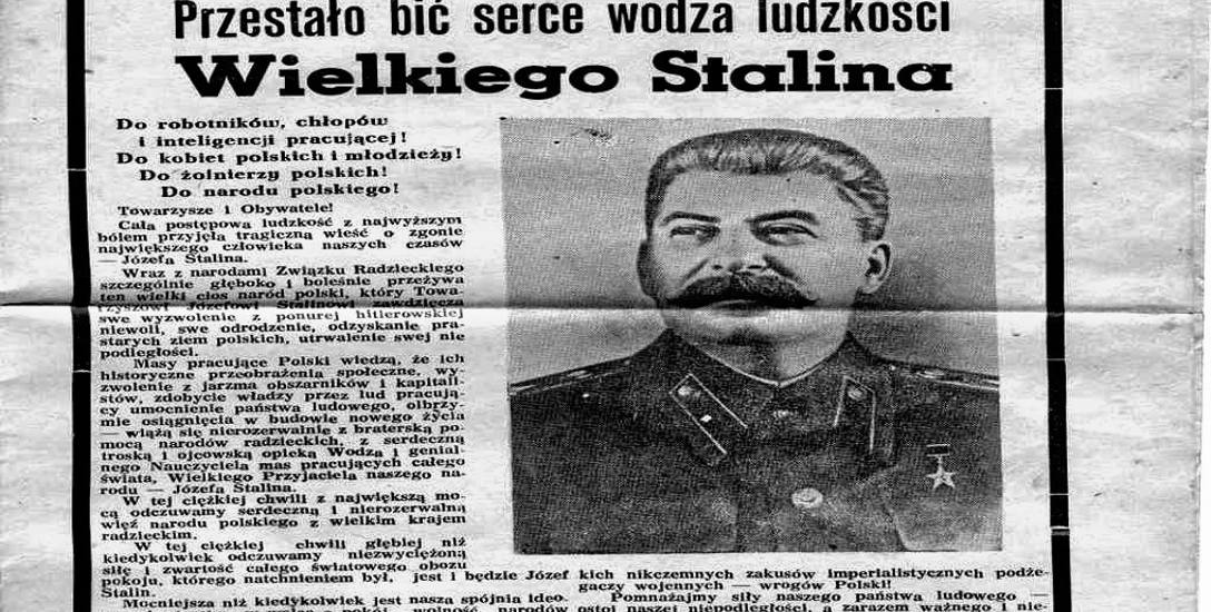 Pierwsza strona jednodniówki wydanej przez białostockich budowlańców 11 marca 1953 roku