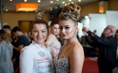 Anna Saska-Seremet z Głogówka na Mistrzostwach Europy Fryzjerów we Włoszech.