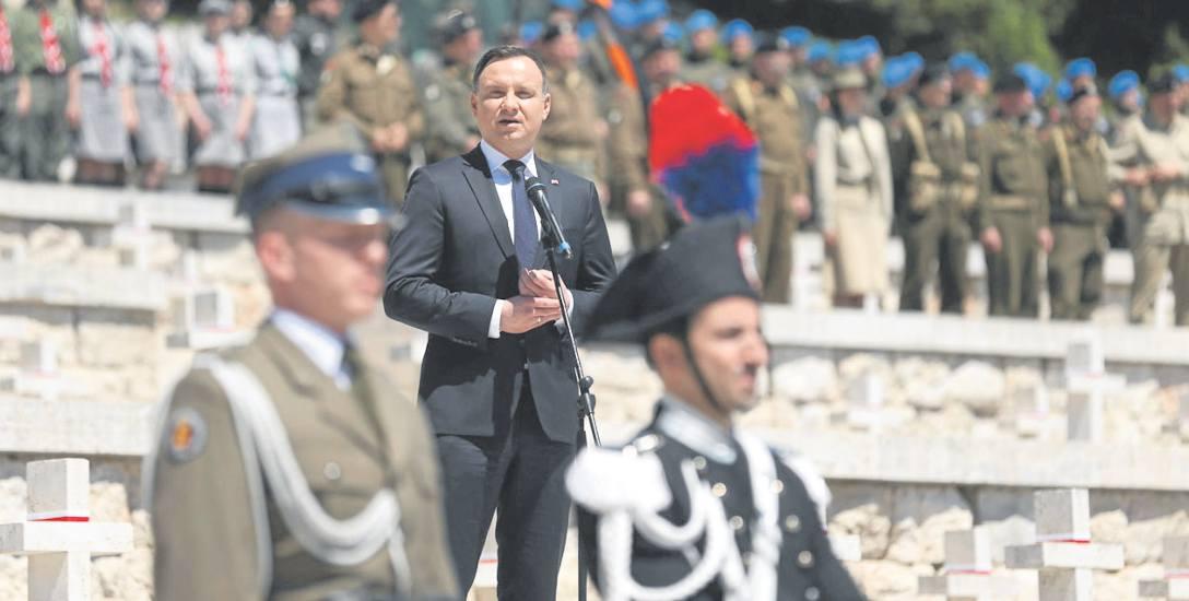 Prezydent Duda oddał cześć poległym pod Monte Cassino.