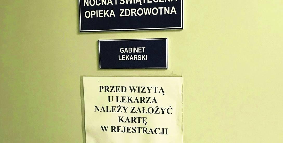 Wczoraj drzwi gabinetu lekarza w Szpitalu Klinicznym nr 2 w Rzeszowie były zamknięte, choć na wywieszonej kartce była informacja, że szpital zapewnia