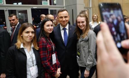 Andrzej Duda spotkał się ze studentami Uniwersytetu Rzeszowskiego.