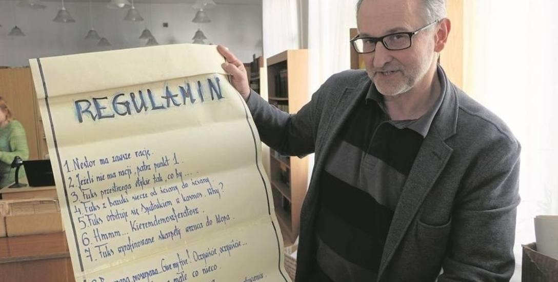 Prof. Wiesław Czołpiński, prorektor Akademii Teatralnej ds. Wydziału Sztuki Lalkarskiej